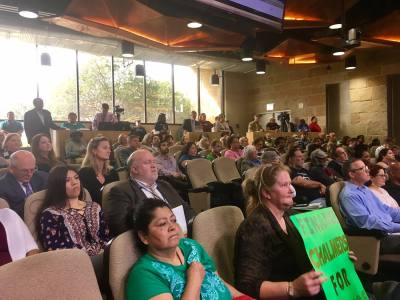 Austin City Council threw support behind the Chalmers Courts housing project in its quest for low-income housing tax credits. Residents and community members came out in droves to support the project.