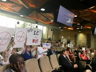 Neighbors of Champion's Tract have long objected to the proposed rezoning request.