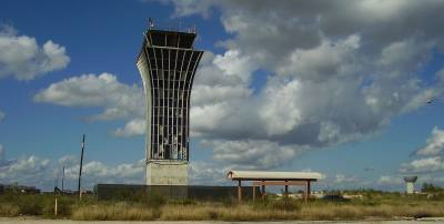 The Robert Mueller Municipal Airport control tower is one of three historic structures remaining from the property's days as the city's airport.