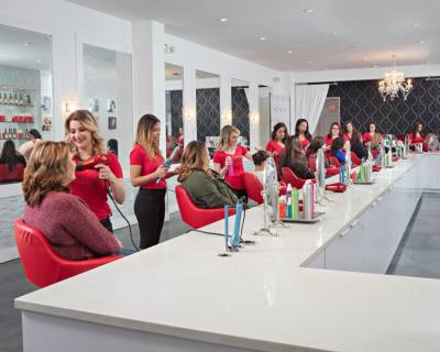 Cherry Blow Dry Bar offers blowouts for hair of any length.