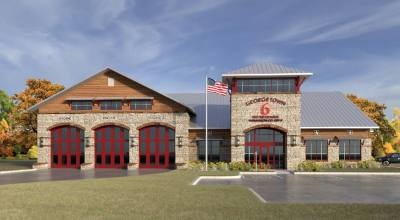 Preliminary plans for Georgetown's Fire Station No. 6 include a facility about 11,000 square feet in size with three garage bays for firefighting vehicles.