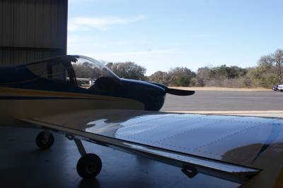 Students enrolled in the aerospace engineering program at Georgetown ISD during the 2016-17 school year built a small plane as part of the curriculum,
