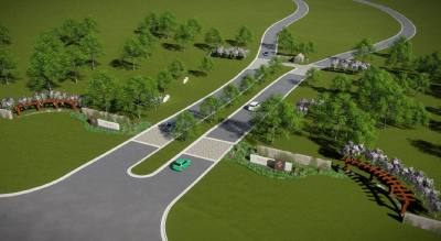 A rendering shows the proposed entrance to Provence.