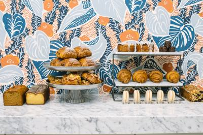 Le Politique's patisseries serves sweet and savory French pastries and an assortment of beverages.