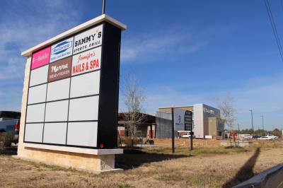 The second retail section of Northpointe Center is under construction by Realty 1 Partners at Hwy. 249 and Northpointe Boulevard.