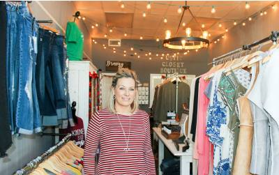 Owner January Lincoln opened the Rustic Closet in 2017 and celebrates one year of business this February.