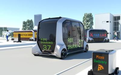 Toyota Motor Corporation's e-Palette concept is expected to begin feasibility testing in the early 2020s.