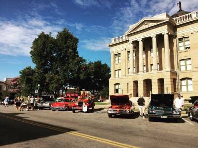 Stop by Pistons on the Square to see antique, classic, muscle and late-model cars.