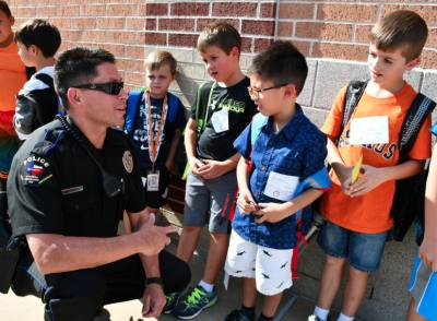 The Cy-Fair ISD Police Department works to build positive relationships with students and faculty.