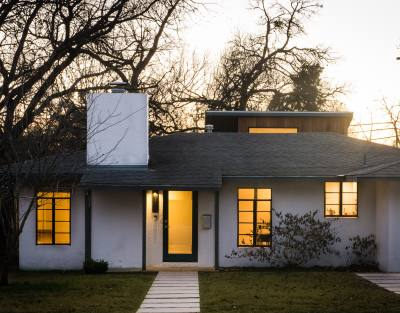 This postwar concrete block home belongs to local architect Ada Corral, a partner at Jobe Corral Architects.