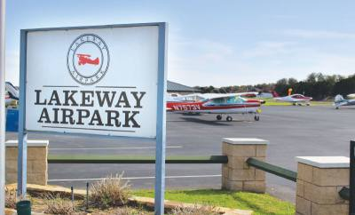 Locals who do not have a house that backs to the airpark can keep a plane on the designated tie-down space.