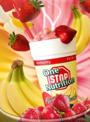 One Stop Nutrition offers shakes, supplements and vitamins.