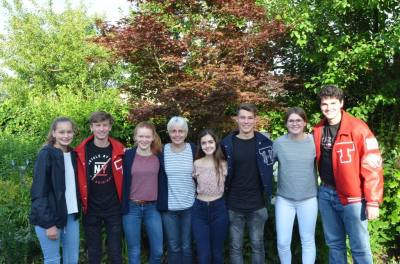 The Tomball Sister City Organization is hosting three students from Telgte, Germany, for the upcoming 2018-19 school year. Students will attend Tomball ISD campuses. The three exchange students are pictured with previous exchange students and Telgte exchange program coordinator, Gerda Riddermann (center) in Germany this summer: Talea (left), Insa (third from left) and Finja (second from right).