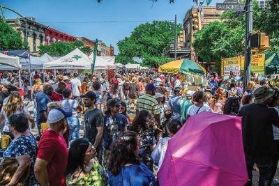The biannual Pecan Street Festival features local musicians, food vendors and kid-friendly activities.