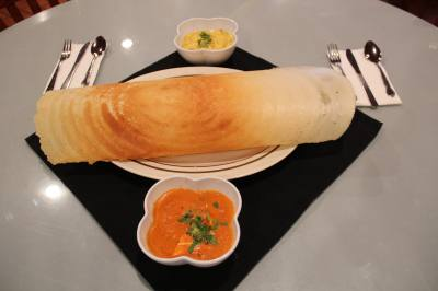 Curry Bliss in Richardson serves vegetarian Indian cuisine, including Masala Dosa.