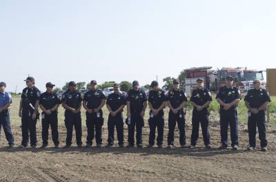 Hutto Fire Rescue officials and community leaders broke ground on the new Vic Stern Station on Aug. 23.
