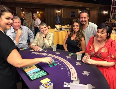 The annual chamber fundraiser features casino games as well as food and a cash bar.