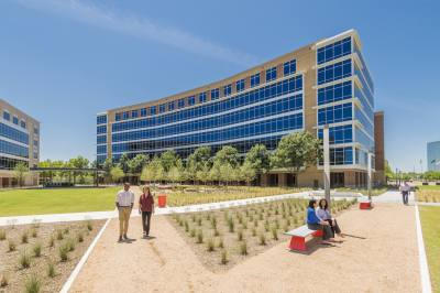 Building D at Galatyn Commons is home to the Richardson offices of Raytheon and Steward Health Care.
