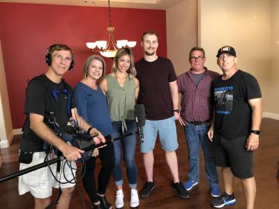 Astra Realty Owner and Broker Leslie Remy (second from the left) is filming an episode of HGTV's House Hunters in McKinney.