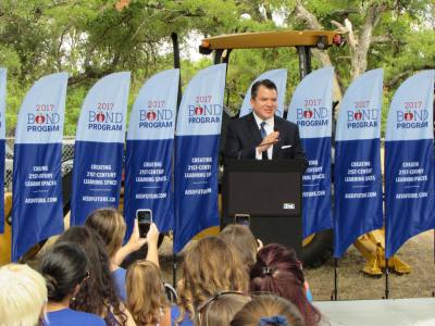 Austin ISD Superintendent Paul Cruz said Menchaca Elementary School is one of 17 schools being modernized through the 2016 bond package.