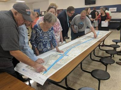 TxDOT and county officials previewed a Hwy. 79 widening project to the public Aug. 23.