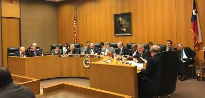 Harris County Commissioners Court meets on the ninth floor at 1001 Preston St., Houston.