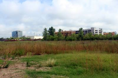 McKalla Place is an undeveloped piece of land owned by the city. Plans to use the site for Austin Water were abandoned after an explosion occurred in 2003. The site was previously the location of a chemical plant and has now been remediated.