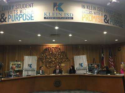 The Klein ISD board of trustees.