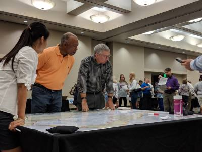Harris County Flood Control District officials hosted a community engagement meeting for residents in the Willow Creek watershed on July 18 to gather public input on proposed projects for the county's bond referendum.