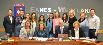 Hill Country Middle School students who worked on the No Barriers project were also recognized by the Eanes ISD board of trustees last year.