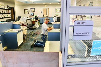 Friendswood ISD is improving security vestibules at Windsong Elementary school as well as other schools in the district. Construction is slated to be finished by the start of school.
