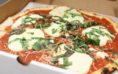 The Margherita Pizza ($9.95) is the restaurantu2019s top-selling pizza.