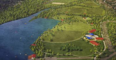 Concept drawings of Lakeline Park in Cedar Park were shown at a meeting Aug. 27.