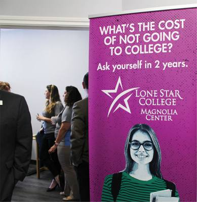 Lone Star College System and the Greater Magnolia Parkway Chamber of Commerce ncelebrated the opening of LSCS offices on July 25 to offer advising services in Magnolia.