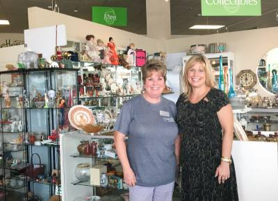 Debbie Flint (left) is the store manager of Something Special, while Sarah Raleigh (right) serves as the president and CEO of MCWC.