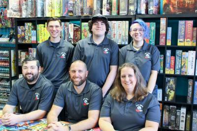 Brian McMeans (lower center) and his wife, Laura, (lower right) opened Space Cadets Gaming Gaming in November 2016 in Oak Ridge North.