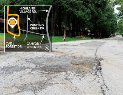 Voters approved a $7.15 million bond in November that will be used to reconstruct streets like Oak Forest Drive.