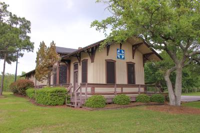 The Gulf, Colorado and Santa Fe Railroad Depot has not been in use since 2008.