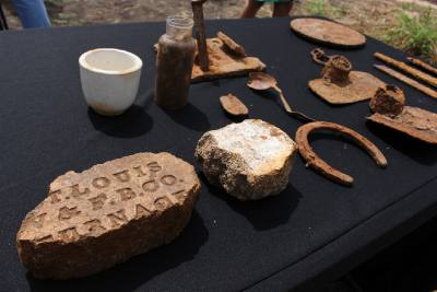 Several artifacts were unearthed when the Sugar Land 95 were discovered last February at Fort Bend ISD's James Reese Career and Technical Education center.