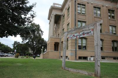 The Williamson County Courthouse is a prominent center to Georgetown's historic character.