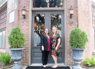 Amber Murphy (left) and Shawna nErminger own Butleru2019s Courtyard.