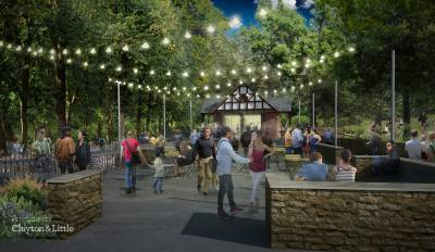 The Pease Park transformation will include a revitalization of the Kingsbury Street entrance.