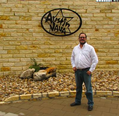 Austin Java Owner Tomas Fernandez  stands at the Dripping Springs location.