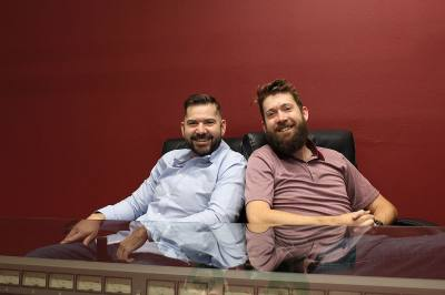 Co-owners Jeff (left) and Chris Wohrer relocated Moffett Productions to Tomball from Houston last August.