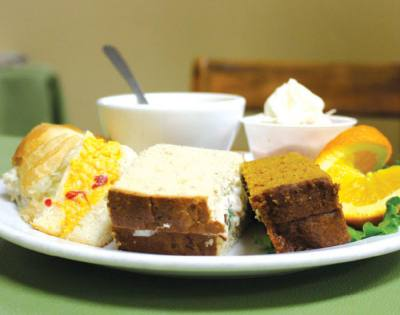 The Charleston Tea Room offers traditional tea room dining.