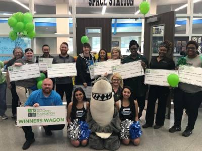 Alvin ISD's Education Foundation awards teacher grants at its Winners Wagon event.