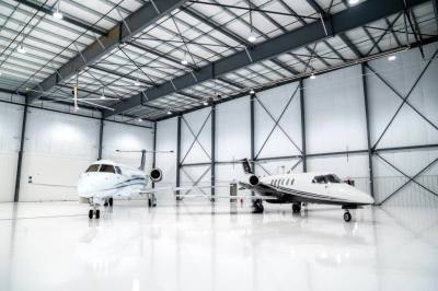 The McKinney National Airport opened at 40,000-square-foot hangar in May.