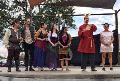 Performers take the stage at a previous Conroe Shakespeare Festival.