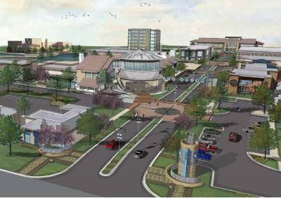 A conceptual rendering shows plans for the Co-Op district, as of May 16.