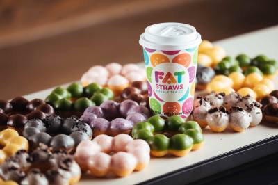 Fat Straws Bubble Tea Co. is known for its bubble teas and mochi doughnuts.